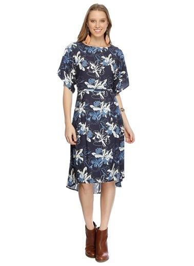 Limon Company Kısa Kollu Çiçekli Şifon Elbise Renkli